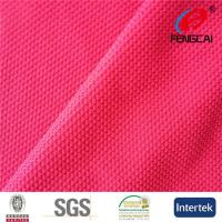 Buy cheap Fuschia 100 Polyester Moisture Wicking Fabric , Weft Knitting Yoga Pants Fabric from wholesalers