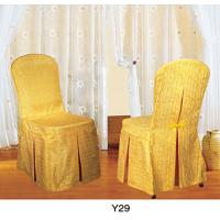 Buy cheap Foshan Factory large wholesale hot sale Yellow spandex chair cloth (Y-29) from wholesalers