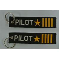 Buy cheap Pilot Captain four bars with Star keychain Airlines Aviation Gift from wholesalers