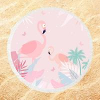 Buy cheap Roundie Flamingo  Sublimated Beach Towels 250-300GSM Fluffy Exquisite from wholesalers