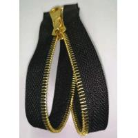 Buy cheap Open End Brass Metal Teeth Zipper With Shiny Gold Color For Home Textile from wholesalers