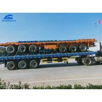 Buy cheap 40 Flatbed 3 Axles  Container Semi Trailer 50 Tons Loading Capacity With Led Lights from wholesalers