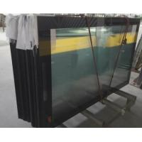 Buy cheap Ultra Clear 5mm Low Iron Printed Glass with Black Boarder RAL9005 Toughened Glass Panels from wholesalers
