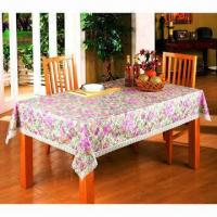Buy cheap PVC Table Cloth with Flannel Backing/Non-woven Backing from wholesalers