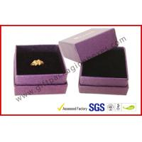 Buy cheap Foil Gold Apparel Gift Boxes / Wedding Ring Boxes With Black Velvet Foam from wholesalers