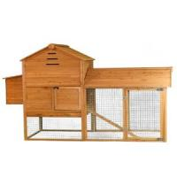 Buy cheap wooden chicken house with long run and metal tray from wholesalers
