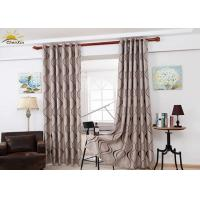 Colorfast Decorative Jacquard Window Curtains With Embossed Pattern