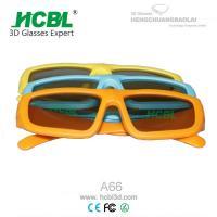 Kids Pasive Circular Polarized Disposable 3D Glasses Yellow / Blue / Orange