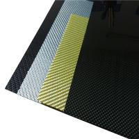 Buy cheap Carbon Fiber Sheet 3K Twill or Plain Colorful Kevlar Impact Resistant piece in different thickness from wholesalers