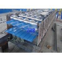 Buy cheap Hydraulic Automatic Steel Tile Roll Forming Machine CNC Controlling System product