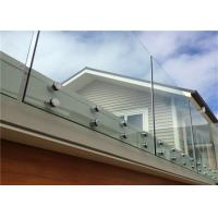 Buy cheap Simple Design Tempered Glass Pool Fence Panels , Glass Handrail Systems For Decks from wholesalers