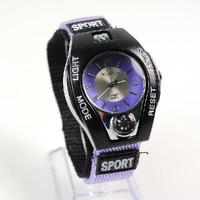 Buy cheap Women Men's WOMAGE Quartz Sport Wrist Watch with Faux Compass Purple from wholesalers