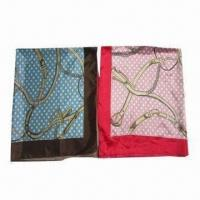 Buy cheap Polyester Satin Square Scarf with Fashionable Design from wholesalers