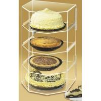 Buy cheap Acrylic Bakery Display Case , 4-Shelf Pie Display Stand Showcase product