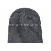 Buy cheap Dark Gray Flat Knitted Baby Hats Handmade Wool Crochet Hats For Women product