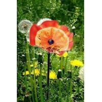 Buy cheap Hand Blown Glass Garden Flower Garden Art Garden Sculpture (GF1005RF-OR) from wholesalers