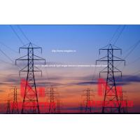 Buy cheap 230KV double circuit light angle tension transmission line steel tower from wholesalers