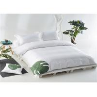 Buy cheap Nordic Hotel Bedroom Set 100% Cotton And Personalized Satin White 400T With Embroider from wholesalers