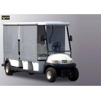 Buy cheap Sunshade White 8 Seater Golf Cart , Trojan Battery Electric Sightseeing Car from wholesalers