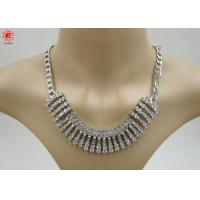 Buy cheap Girls Silver Trendy Fashion Jewelry Necklace With Rhinestone from wholesalers