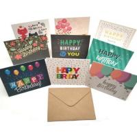 Buy cheap Happy Birthday Paper Greeting Card Envelope Sets Recyclable With Offset Printing from wholesalers