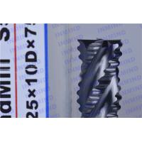 Buy cheap HRC55 4 Flute Carbide Roughing End Mills with AlTiN / NANO Coating from wholesalers