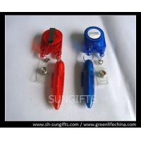 Buy cheap Red/blue stylish badge reel with ball pen and clear vinyl strap from wholesalers