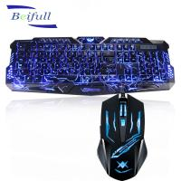 Buy cheap 2016 Top Seller USB wired backlit best cheap pc keyboard and mouse combo from wholesalers