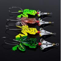 "Buy cheap Lot 4pcs Rubber Frog Soft Fishing Lures Bass CrankBait Sinking 9cm 3.54"" 6.2g product"
