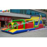 Buy cheap Professional Kids Cool 0.55mm PVC tarpaulin Inflatables Obstacle Course Rentals from wholesalers