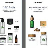 Buy cheap Wholesale essential oil glass bottle CBD oil Dropper Bottle with silk print paper tube from wholesalers