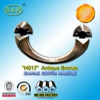 Antique copper bronze zamak metal coffin handle H017 22.5*11.5  cm zinc casket hardware