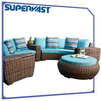 Buy cheap Luxury Furniture Outdoor Sectional Sofa Set Modular Chunky PE Rattan Patio Garden from wholesalers