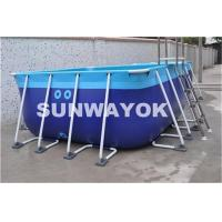 Buy cheap Summer Above Ground Rectangle Framed Swimming Pools For Family from wholesalers