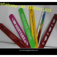 Buy cheap High quality kids gifts CMYK colorful printed silicone slap wristband with cheap price from wholesalers