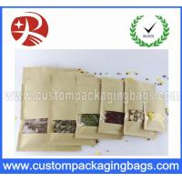Buy cheap Gravure Printed Stand Up Pouch Food Packaging Kraft Window Paper from wholesalers