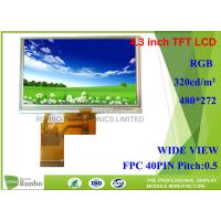 Buy cheap FPC Connector Tft Resistive Touchscreen , 4.3 Inch Lcd Display 480 * 272 For Telephone from wholesalers