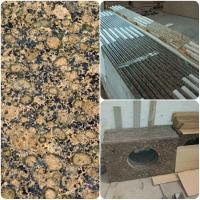 Modern Design Custom Granite Countertops, Brown Granite Bathroom Worktops