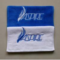 Buy cheap Low MOQ fitness towel/ hand towel/ face towel with customized embroidery from wholesalers