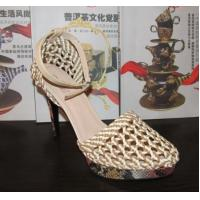 Buy cheap Brand Nature Braided High Heeled Sandals ladies quality platform shoes OEM/ODM factory from wholesalers