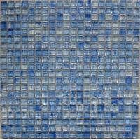 Buy cheap Blue 23x23x8mm Kitchen Glass Mosaic Tiles Backsplash With Matte Surface from wholesalers