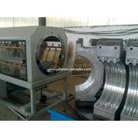 Buy cheap HDPE / PVC / PP Double Wall Corrugated Pipe Extrusion Line Custom Made from wholesalers