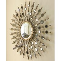 Buy cheap Fashionable Metal Mirror Wall Decor Geometric Design Durable Material from wholesalers