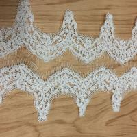 Buy cheap Jacquard Cord Eyelash  Lace Border  for Wedding Bridal Dress from wholesalers