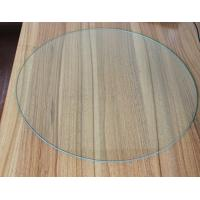 Buy cheap Safety 4MM Round Tempered Glass , Furniture Clear Toughened Glass from wholesalers