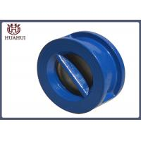 Buy cheap Wafer Type Flanged Check Valve Blue Color Stainless Steel Stem Cast Iron Disc from wholesalers