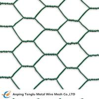 Buy cheap Green PVC Coated Chicken Wire|Hexagonal Hole 3/8 to 4mesh for Poultry Fence from wholesalers