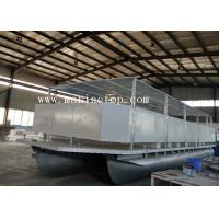 Buy cheap 14m Marine Grade 5083 Custom Pontoon Boat With 14 Benches A Toilet For Tourism from wholesalers