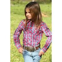 Buy cheap High quality 100% Cotton Yarn Dyed personality kids plaid shirts girls from wholesalers