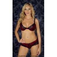Buy cheap Customized Sheer Plus Size Health Embroidered Matching Bra And Underwear Sets For Women from wholesalers